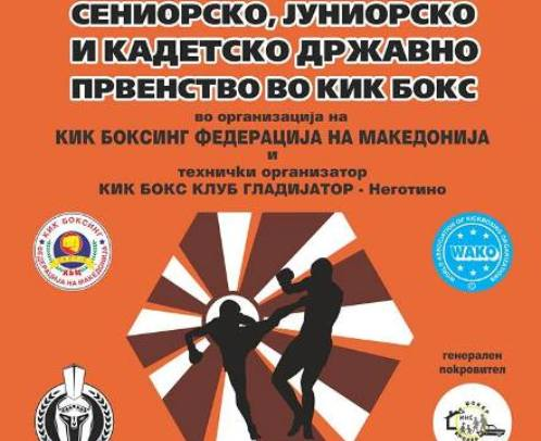 Plakat DP kik boks negotino 2016